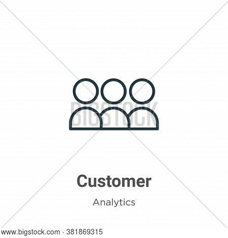 Customer icon isolated on white background from business collection. Customer icon trendy and modern