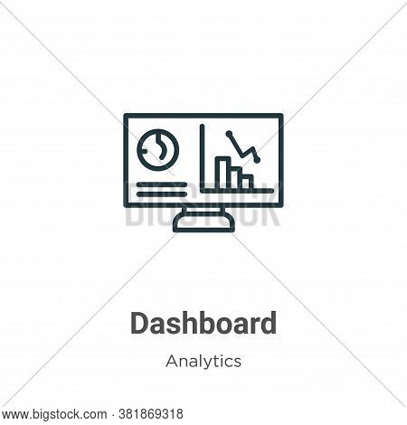 Dashboard icon isolated on white background from analytics collection. Dashboard icon trendy and mod