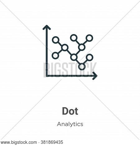 Dot icon isolated on white background from analytics collection. Dot icon trendy and modern Dot symb