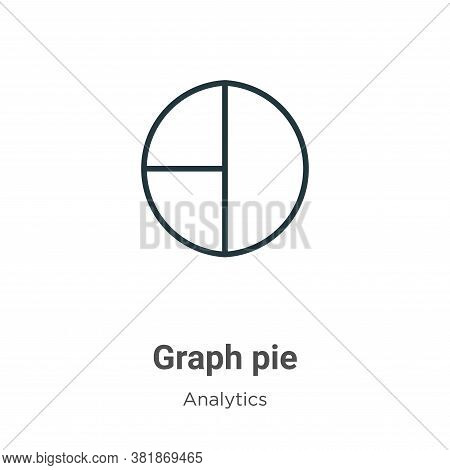 Graph pie icon isolated on white background from analytics collection. Graph pie icon trendy and mod