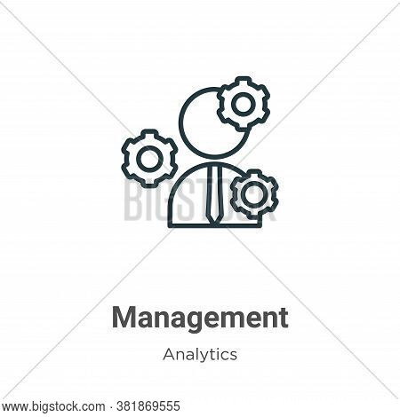 Management icon isolated on white background from business collection. Management icon trendy and mo