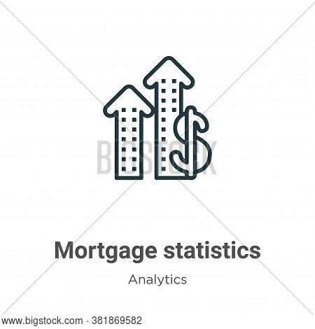 Mortgage statistics icon isolated on white background from analytics collection. Mortgage statistics