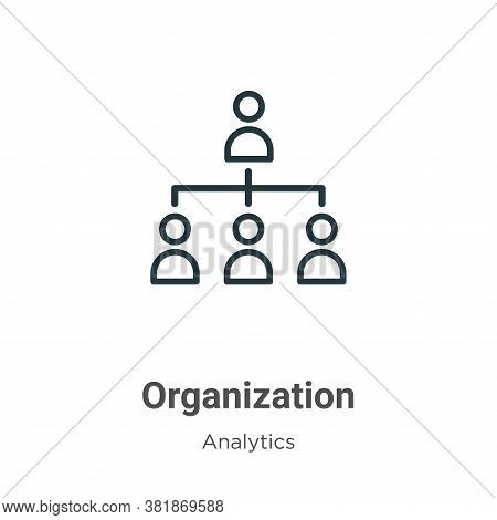 Organization icon isolated on white background from business collection. Organization icon trendy an