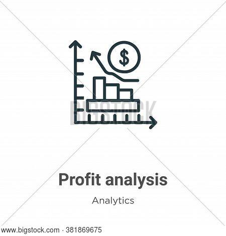 Profit analysis icon isolated on white background from analytics collection. Profit analysis icon tr