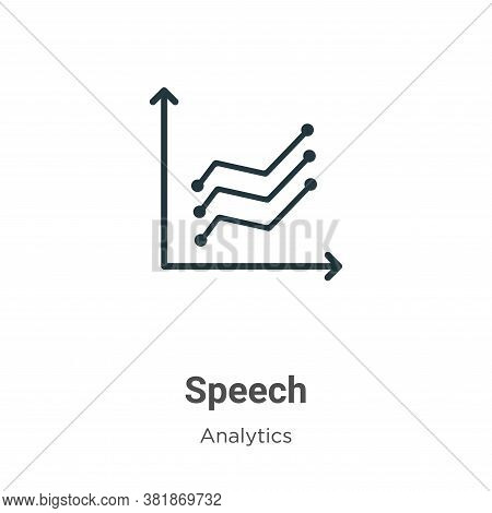 Speech icon isolated on white background from business collection. Speech icon trendy and modern Spe