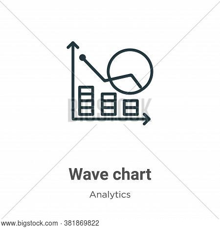 Wave chart icon isolated on white background from analytics collection. Wave chart icon trendy and m