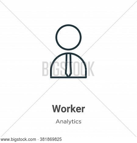 Worker icon isolated on white background from business collection. Worker icon trendy and modern Wor