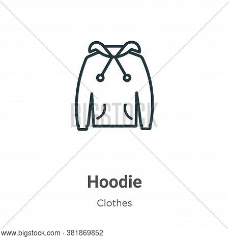 Hoodie icon isolated on white background from clothes collection. Hoodie icon trendy and modern Hood