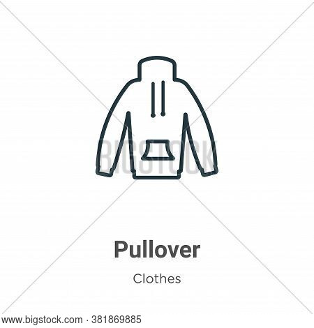 Pullover icon isolated on white background from clothes collection. Pullover icon trendy and modern