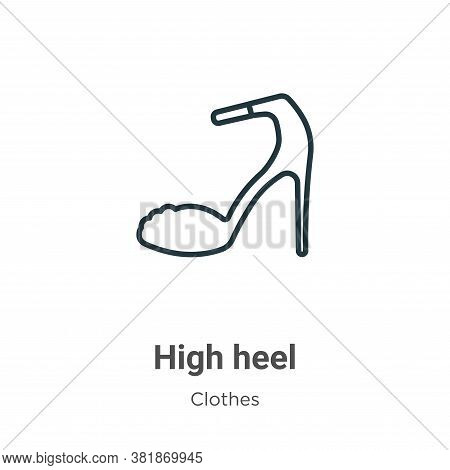 High Heel Icon From Clothes Collection Isolated On White Background.