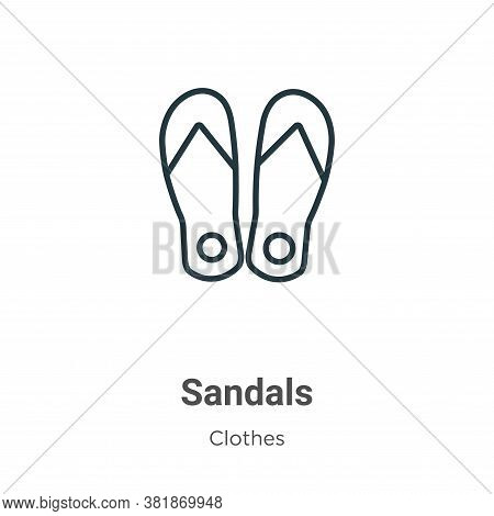 Sandals icon isolated on white background from clothes collection. Sandals icon trendy and modern Sa