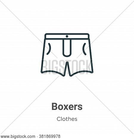 Boxers icon isolated on white background from clothes collection. Boxers icon trendy and modern Boxe