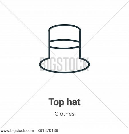 Top hat icon isolated on white background from clothes collection. Top hat icon trendy and modern To