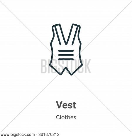 Vest icon isolated on white background from clothes collection. Vest icon trendy and modern Vest sym