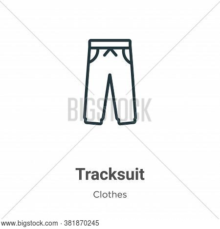 Tracksuit icon isolated on white background from  collection. Tracksuit icon trendy and modern Track