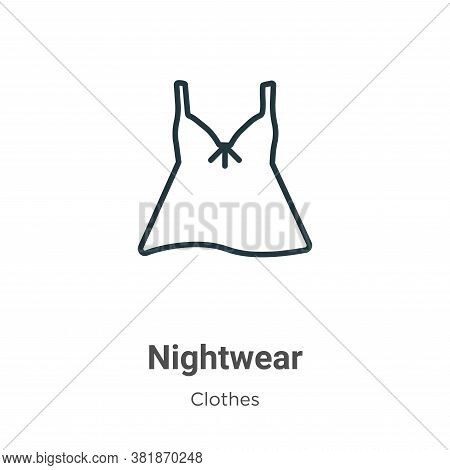 Nightwear icon isolated on white background from  collection. Nightwear icon trendy and modern Night