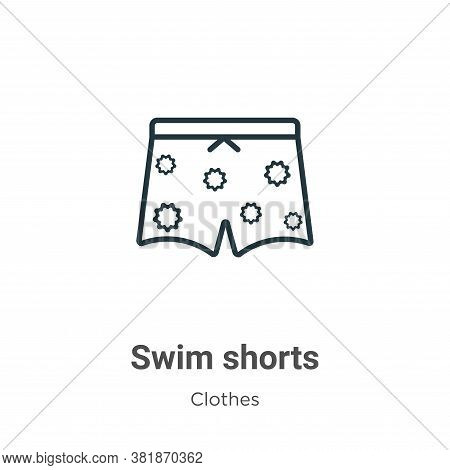 Swim shorts icon isolated on white background from  collection. Swim shorts icon trendy and modern S