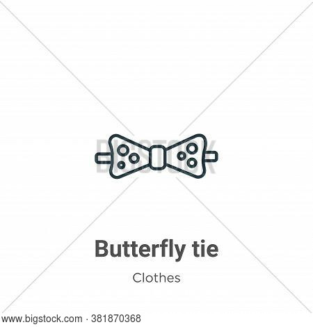 Butterfly tie icon isolated on white background from  collection. Butterfly tie icon trendy and mode