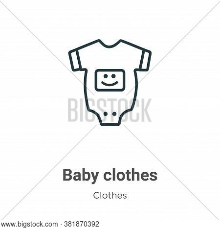 Baby clothes icon isolated on white background from  collection. Baby clothes icon trendy and modern