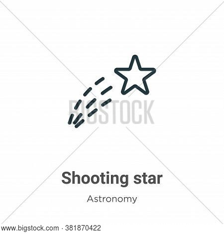 Shooting star icon isolated on white background from astronomy collection. Shooting star icon trendy