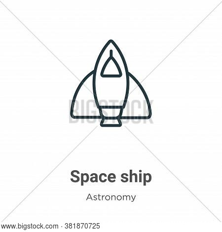 Space ship icon isolated on white background from astronomy collection. Space ship icon trendy and m