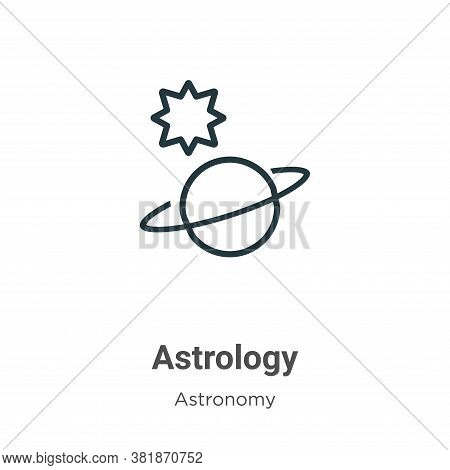 Astrology icon isolated on white background from astronomy collection. Astrology icon trendy and mod