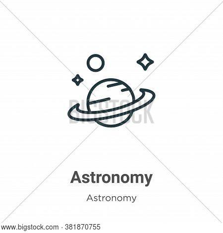 Astronomy icon isolated on white background from astronomy collection. Astronomy icon trendy and mod