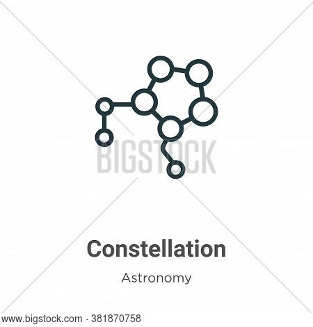 Constellation icon isolated on white background from astronomy collection. Constellation icon trendy
