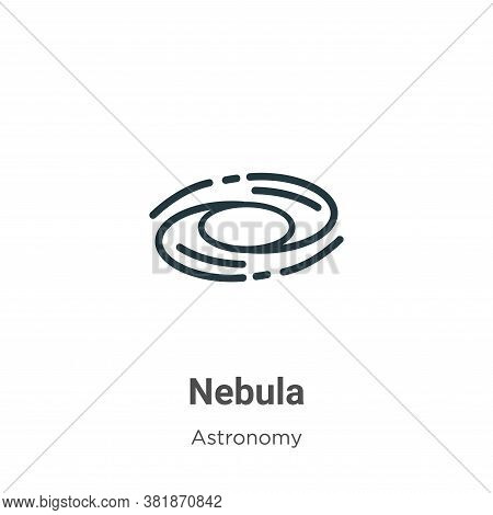Nebula icon isolated on white background from astronomy collection. Nebula icon trendy and modern Ne
