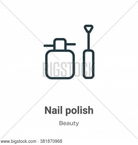 Nail polish icon isolated on white background from beauty collection. Nail polish icon trendy and mo