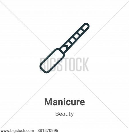 Manicure icon isolated on white background from beauty collection. Manicure icon trendy and modern M