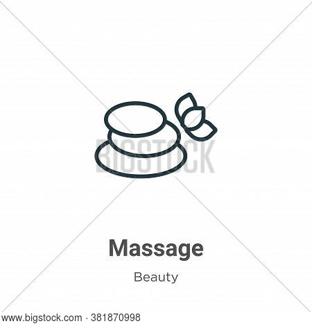 Massage icon isolated on white background from beauty collection. Massage icon trendy and modern Mas