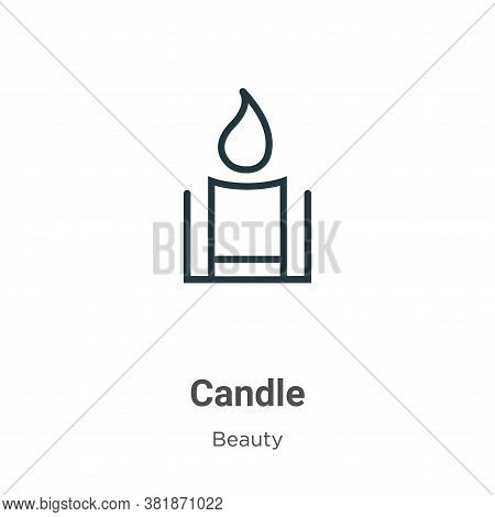 Candle icon isolated on white background from beauty collection. Candle icon trendy and modern Candl