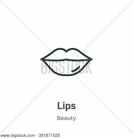 Lips icon isolated on white background from beauty collection. Lips icon trendy and modern Lips symb