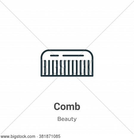 Comb icon isolated on white background from beauty collection. Comb icon trendy and modern Comb symb