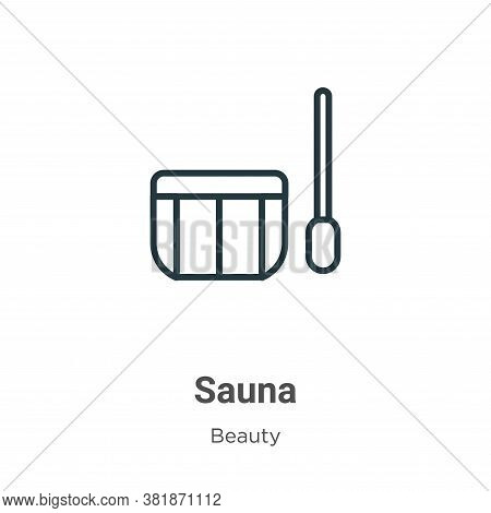 Sauna icon isolated on white background from beauty collection. Sauna icon trendy and modern Sauna s