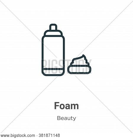 Foam icon isolated on white background from beauty collection. Foam icon trendy and modern Foam symb