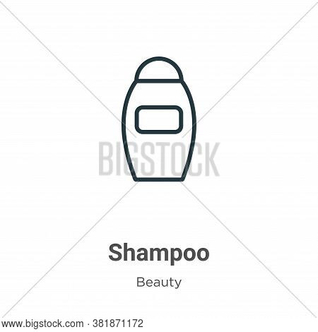 Shampoo icon isolated on white background from beauty collection. Shampoo icon trendy and modern Sha