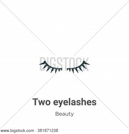 Two eyelashes icon isolated on white background from beauty collection. Two eyelashes icon trendy an