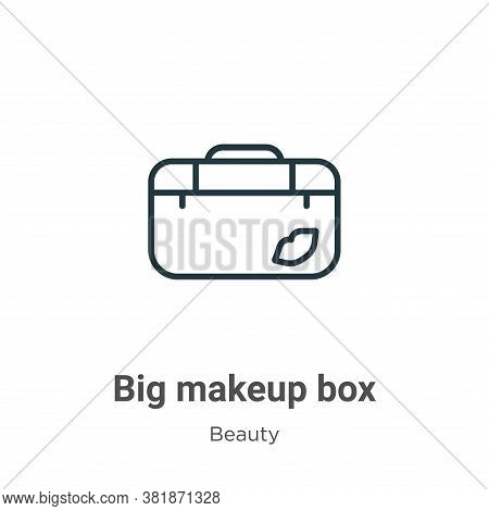 Big makeup box icon isolated on white background from beauty collection. Big makeup box icon trendy