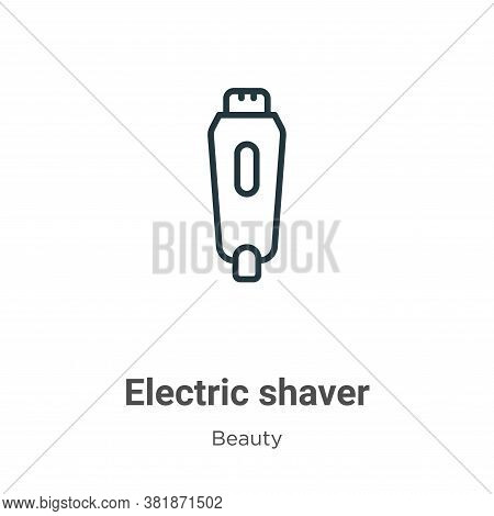 Electric shaver icon isolated on white background from beauty collection. Electric shaver icon trend
