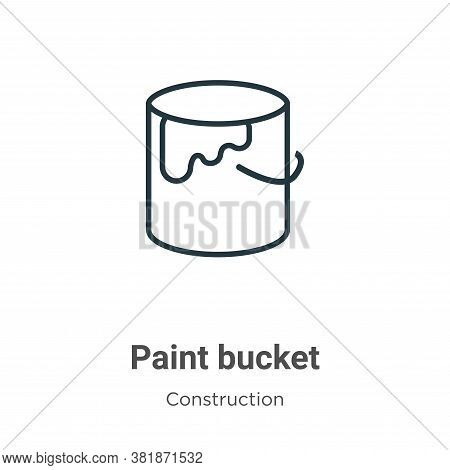 Paint bucket icon isolated on white background from construction collection. Paint bucket icon trend