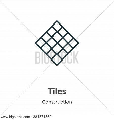 Tiles icon isolated on white background from construction collection. Tiles icon trendy and modern T