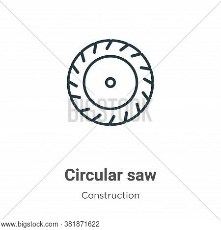 Circular saw icon isolated on white background from construction collection. Circular saw icon trend