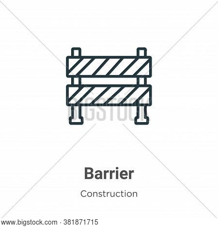 Barrier icon isolated on white background from construction collection. Barrier icon trendy and mode