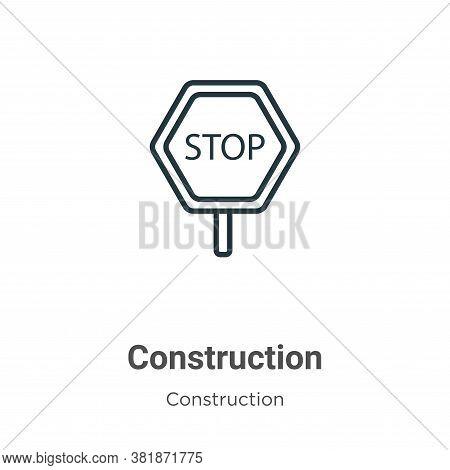 Construction icon isolated on white background from construction collection. Construction icon trend