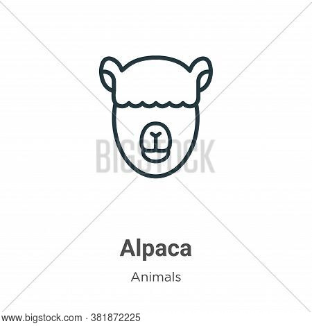 Alpaca icon isolated on white background from animals collection. Alpaca icon trendy and modern Alpa