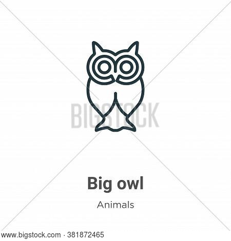 Big owl icon isolated on white background from animals collection. Big owl icon trendy and modern Bi