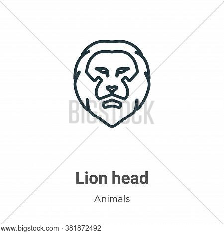 Lion head icon isolated on white background from animals collection. Lion head icon trendy and moder