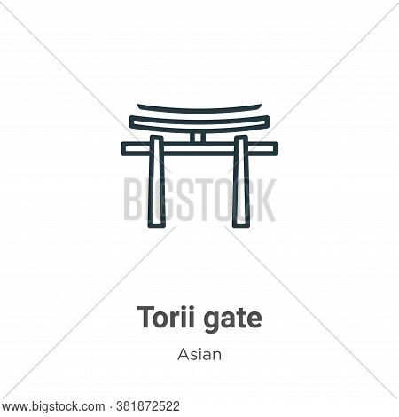 Torii gate icon isolated on white background from asian collection. Torii gate icon trendy and moder